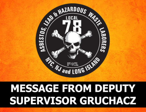 Letter from Deputy Supervisor Gruchacz