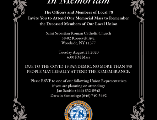 RSVP for Our Memorial Mass Honoring Our Deceased Members