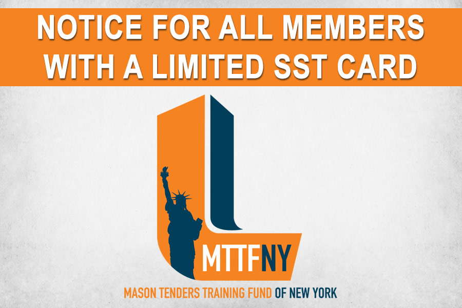 Notice for All Members with a Limited SST Card