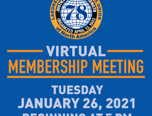 Local 78 Virtual January Membership Meeting