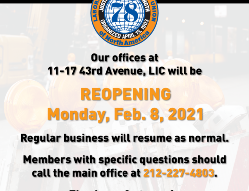 Local 78 Offices Reopening