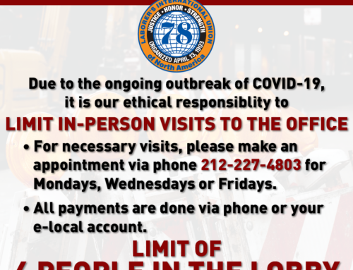 Local 78 COVID-19 Office Update