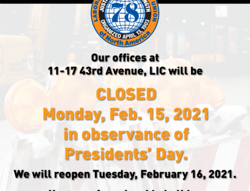 Presidents' Day Holiday Office Closures