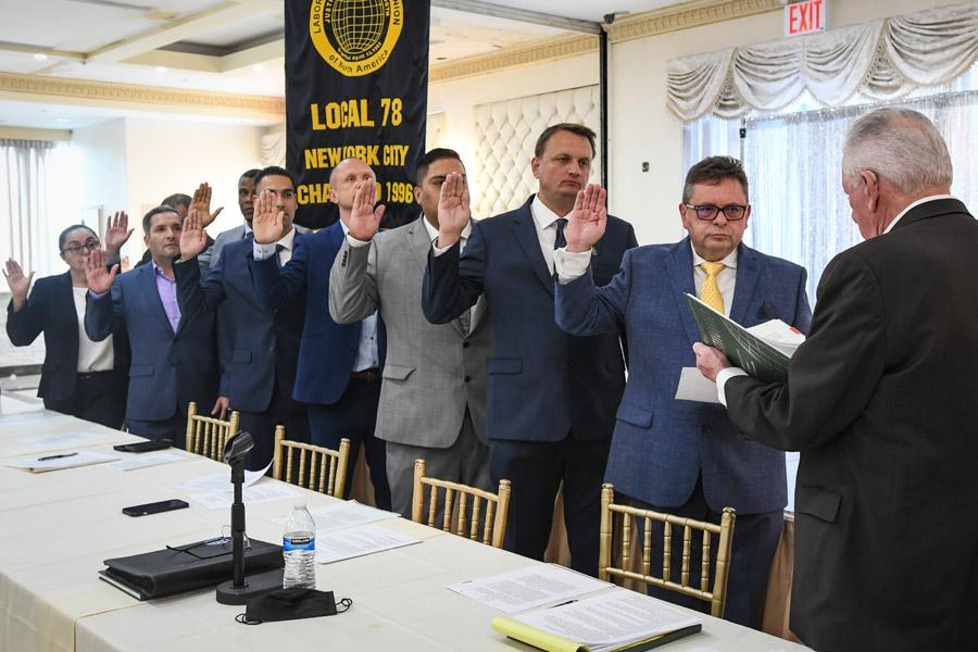 Local 78 Executive Board Sworn In